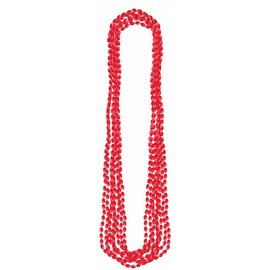 Beads Necklace- Red-8pk/30''