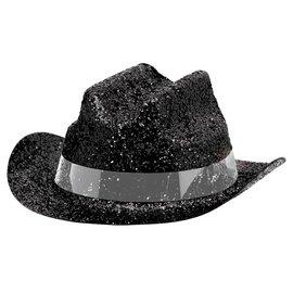 Mini Cowboy Hats -Sparkle Black