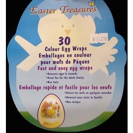 Colour Egg Wraps- Easter- 30pk