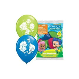 Latex Balloons-Bubble Guppies-6pkg-12""