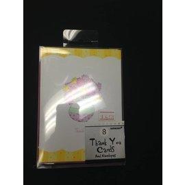 Thank You cards-Flower Pot-8pk