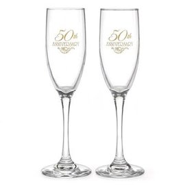 Champagne Glasses-50th Anniversary-2pk/6oz