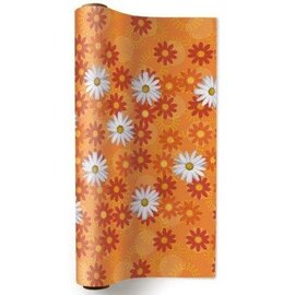 """Non-Woven Table Runner- Daisies All Over- 1ply(157.5""""x12.8"""")"""