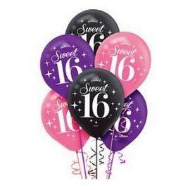 Balloons-latex-Sweet 16-6pk