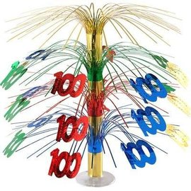Centerpiece-Multi-Color Cascade-100th Celebration-1pkg-18""