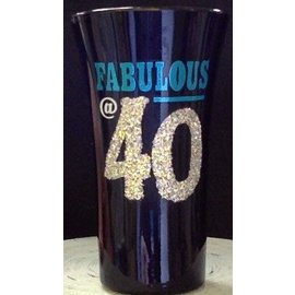 Shot Glass-Fabulous @ 40-1pkg-3.5""