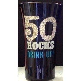"""Shot Glass-50 Rocks, Drink Up-1pkg-3.5"""""""
