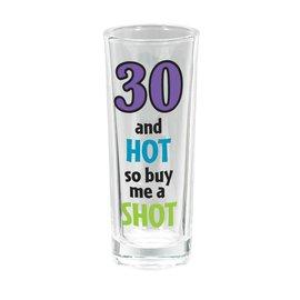 Shot Glass-Tall-30th Birthday-3oz