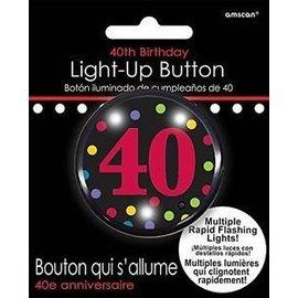 Button-Flashing-40th Bday-Plastic-2''