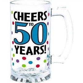 Glass-Tankard-50th Birthday-15oz