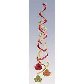 """Danglers-Foil Swirl-Fall Leaves-2pkg-24"""""""