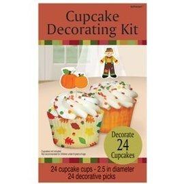 Cupcake Decor Kit-Fall-24pk