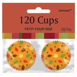 Cupcake Cups-Mini-Fall-120pcs