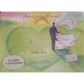 Invitations- Were Getting  Married-25pk