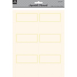 Imprintable Placecards-Ivory-12pk