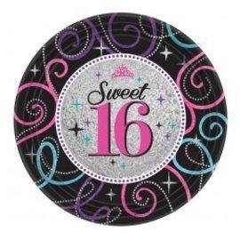 Plates- BEV- Sweet 16 Celebration-8pk-Paper