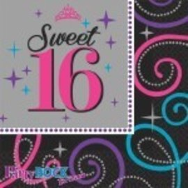 Napkins- BEV- Sweet 16 Celebration-16pk-2ply
