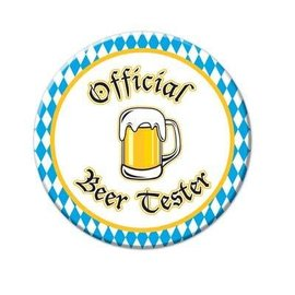 Button-Oktoberfest Beer Tester-1pkg-3.5""