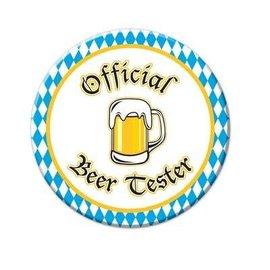 """Button-Oktoberfest Beer Tester-1pkg-3.5"""""""