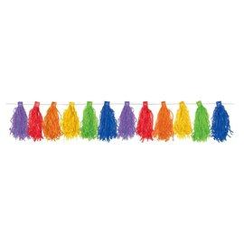 Garlands-Paper Tassel-Rainbow-10ft-20pk