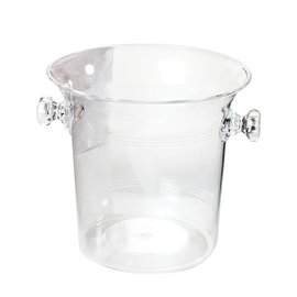 Ice Bucket-Clear-plastic-8''