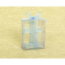 Candle-Religious-Blue Cross-5''