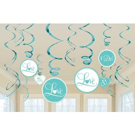 Danglers- Swirl-Wedding Blue-12pk