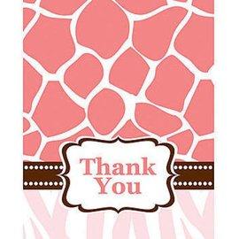 Thank You Cards-Wild Safari Pink-8pkg