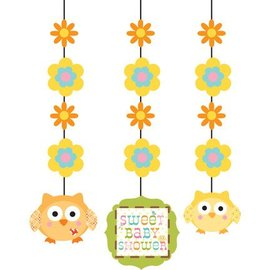 Hanging Cutouts-Happi Tree Baby Shower-3pkg-36""