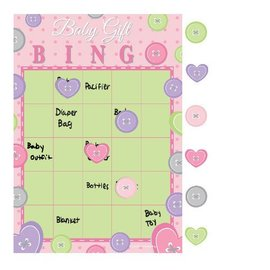 Bingo Game-Cute as a Button Girl-1pkg