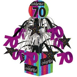 Centerpiece-Foil Cascade-Milestone Celebrations 70th-1pkg-8.5""