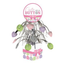 "Centerpiece-Foil Cascade-Cute as a Button Girl-1pkg-12"""