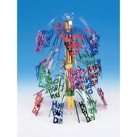 "Centerpiece-Foil Cascade-Happy Birthday-1pkg-18"""