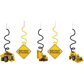 Danglers-Foil Swirl-Construction Zone-3pkg-30""