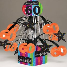 Centerpiece-Foil Cascade-Milestone Celebrations 60th-1pkg-8.5""