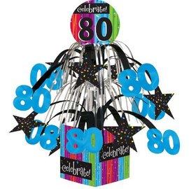 "Centerpiece-Foil Cascade-Milestone Celebrations 80th-1pkg-8.5"""