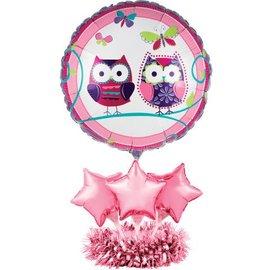 "Centerpiece-Balloon-Owl Pal Birthday-1pkg-24"""