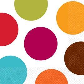 Napkins-BEV-Colorful Dots-16pkg-2ply