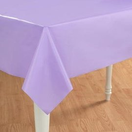 "Plastic Table cover rectangle - Luscious lavender ( 54"" x 108"" )"