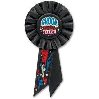 "Award Ribbon-Groom To Be-1pkg-6.5"""