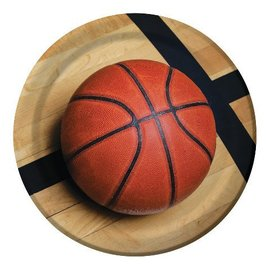 Plates-LN-Basketball Fanatic-8pkg-Paper
