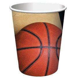 Paper Cups-Basketball Fanatic-8pkg-9oz