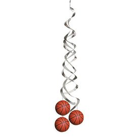 "Danglers-Foil Swirl-Basketball Fanatic-2pkg-36"""