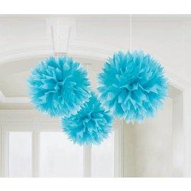 Fluffy Tissue Decor- Carriben Blue-3pk/16''