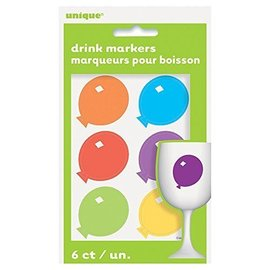 Drink Markers- Coloured Balloons- 6pk