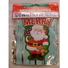 Banner-Merry Christmas-Metallic