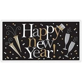 Banner-Happy New Year-Large-Plastic-65'' x 33.5''