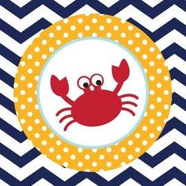 Napkins-BEV-Ahoy Matey-Crab-18pk-2ply - Discontinued