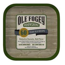 Plates-BEV-Ole Fogey 60th-8pkg-Paper - Discontinued