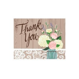 Thank You Cards-Rustic Wedding-8pkg